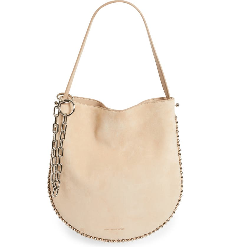 ALEXANDER WANG Roxy Suede Hobo, Main, color, 261