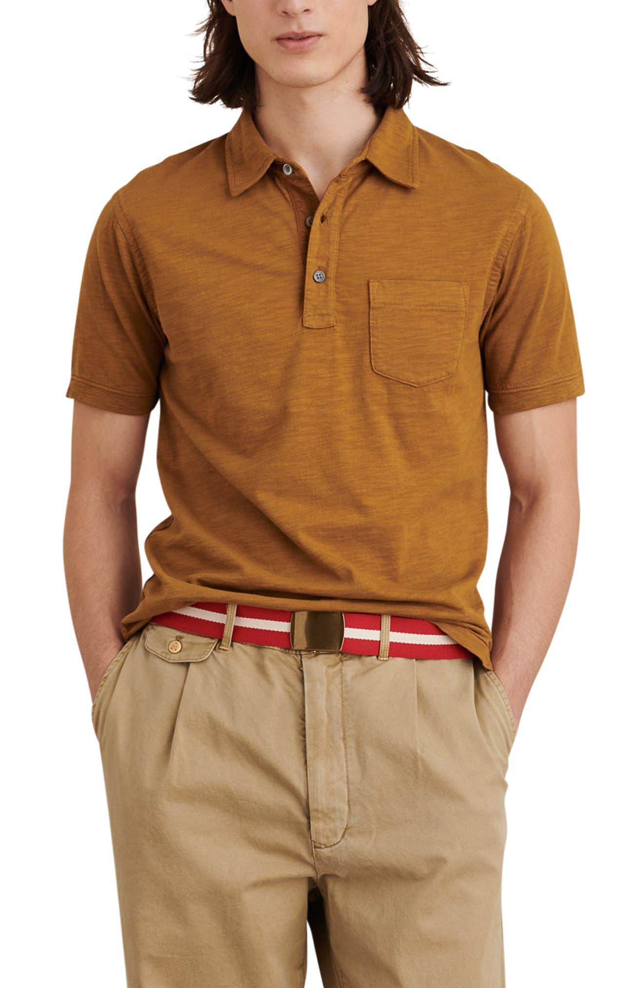 Standard Short Sleeve Slub Pocket Polo
