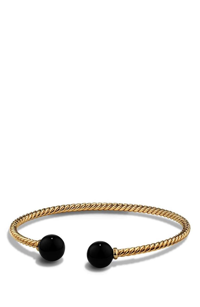 DAVID YURMAN 'Solari' Bead Bracelet, Main, color, BLACK ONYX