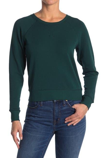 Image of Madewell Crew Neck Raglan Sleeve Sweatshirt
