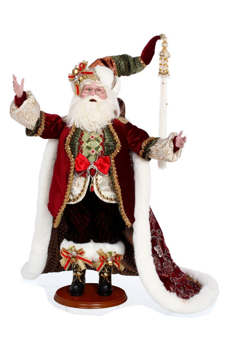 MARK ROBERTS Elegant Santa, Main, color, BURGUNDY MULTI