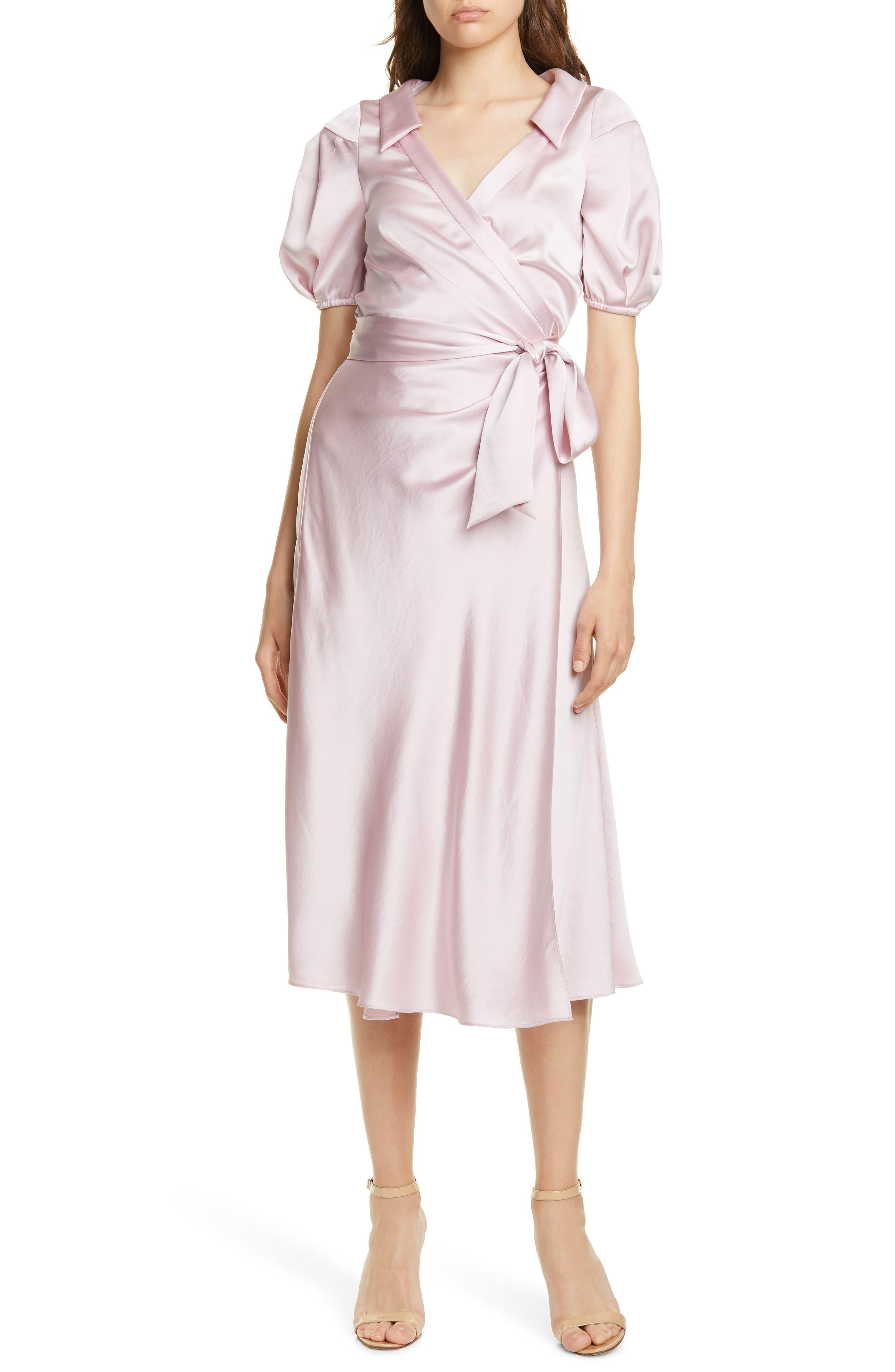 Dvf Valentina Wrap Midi Dress, Purple