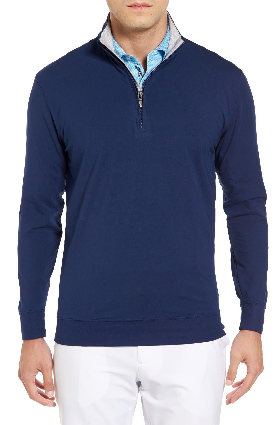 ,                             PTO Liquid Stretch Quarter Zip Pullover,                             Main thumbnail 36, color,                             400