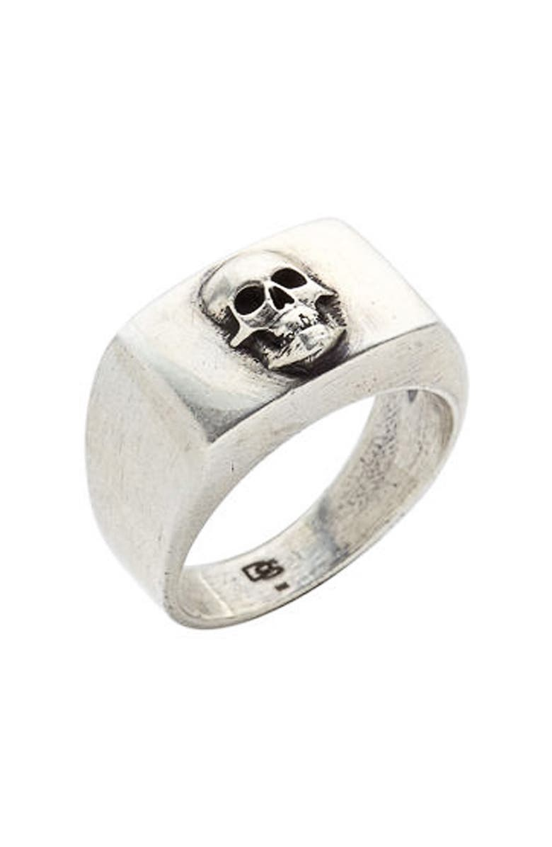 DEGS & SAL Skull Ring, Main, color, SILVER