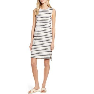 Lou & Grey Stripe Shift Dress, White