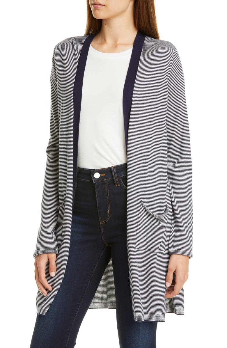ATM ANTHONY THOMAS MELILLO Stripe Silk Blend Cardigan, Main, color, 498