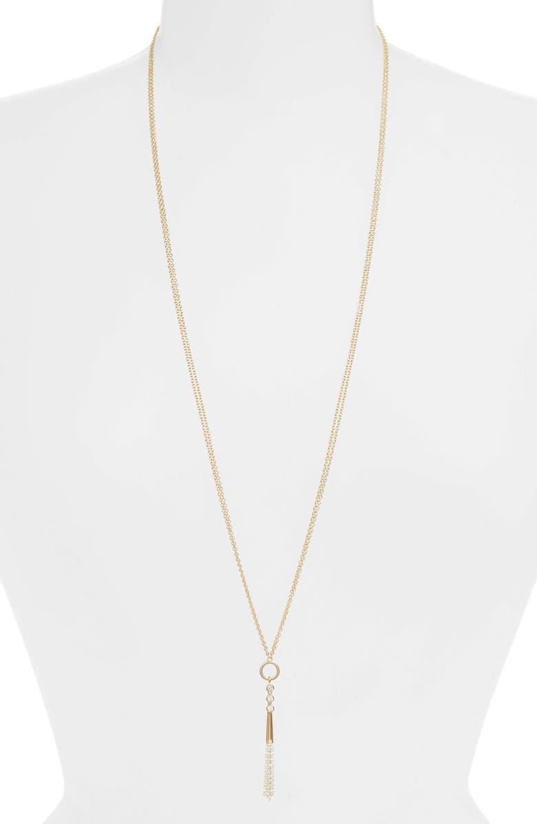 NADRI Mila Long Y-Necklace, Main, color, GOLD