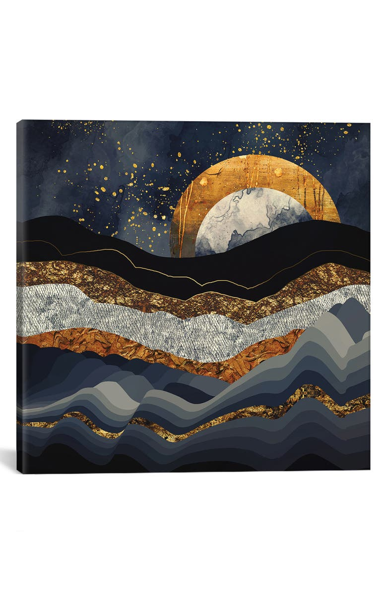 ICANVAS Metallic Mountains by SpaceFrog Designs Giclée Print Canvas Art, Main, color, BLACK