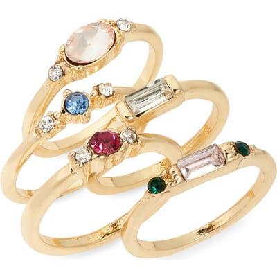 Bp. Set Of 5 Imitation Stone Rings