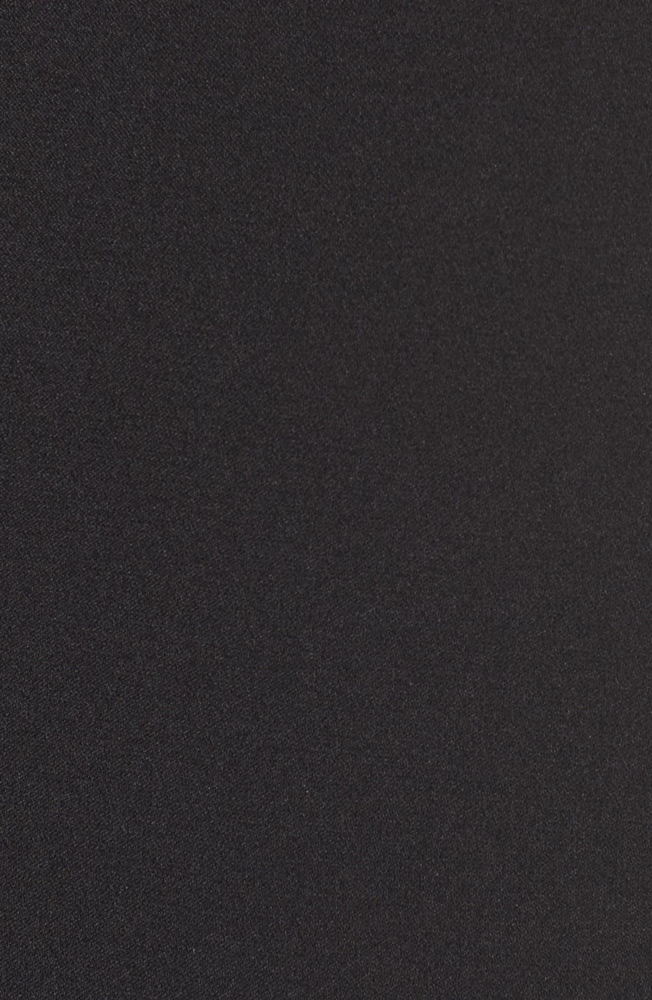 ,                             Illusion Yoke Crepe Sheath Dress,                             Alternate thumbnail 7, color,                             001