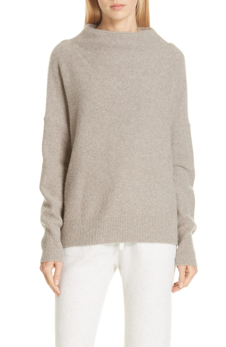 3c44939ed38cf4 Funnel Neck Cashmere Sweater, Main, color, 201
