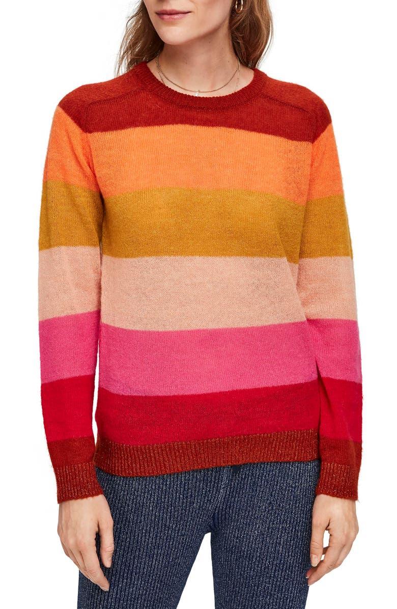 SCOTCH & SODA Colorful Stripe Pullover, Main, color, 600