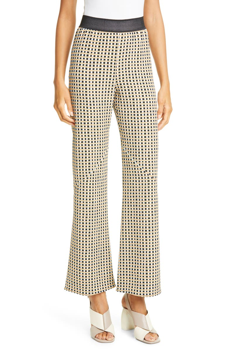 STINE GOYA Chandler Gingham Pants, Main, color, GINGHAM ORANGE