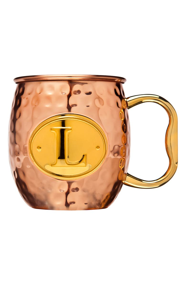 GODINGER Monogram Moscow Mule Mug, Main, color, L