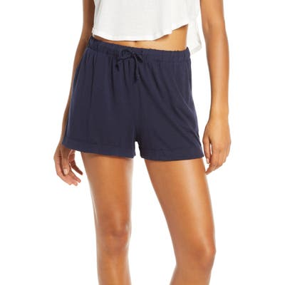 Groceries Apparel Sydney Tencel Lyocell & Organic Cotton Blend Lounge Shorts, Blue