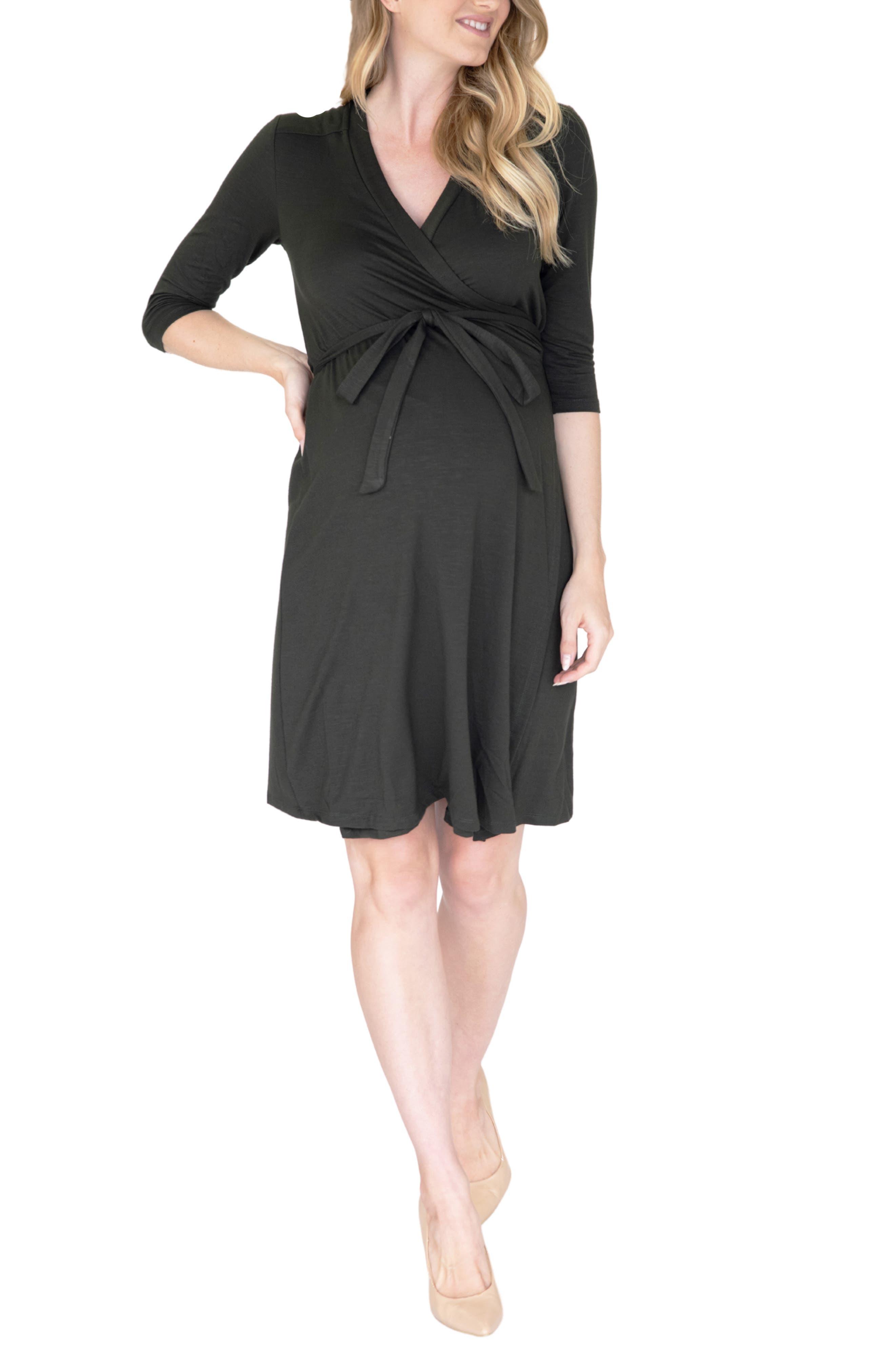 Empire Waist Maternity/nursing Wrap Dress