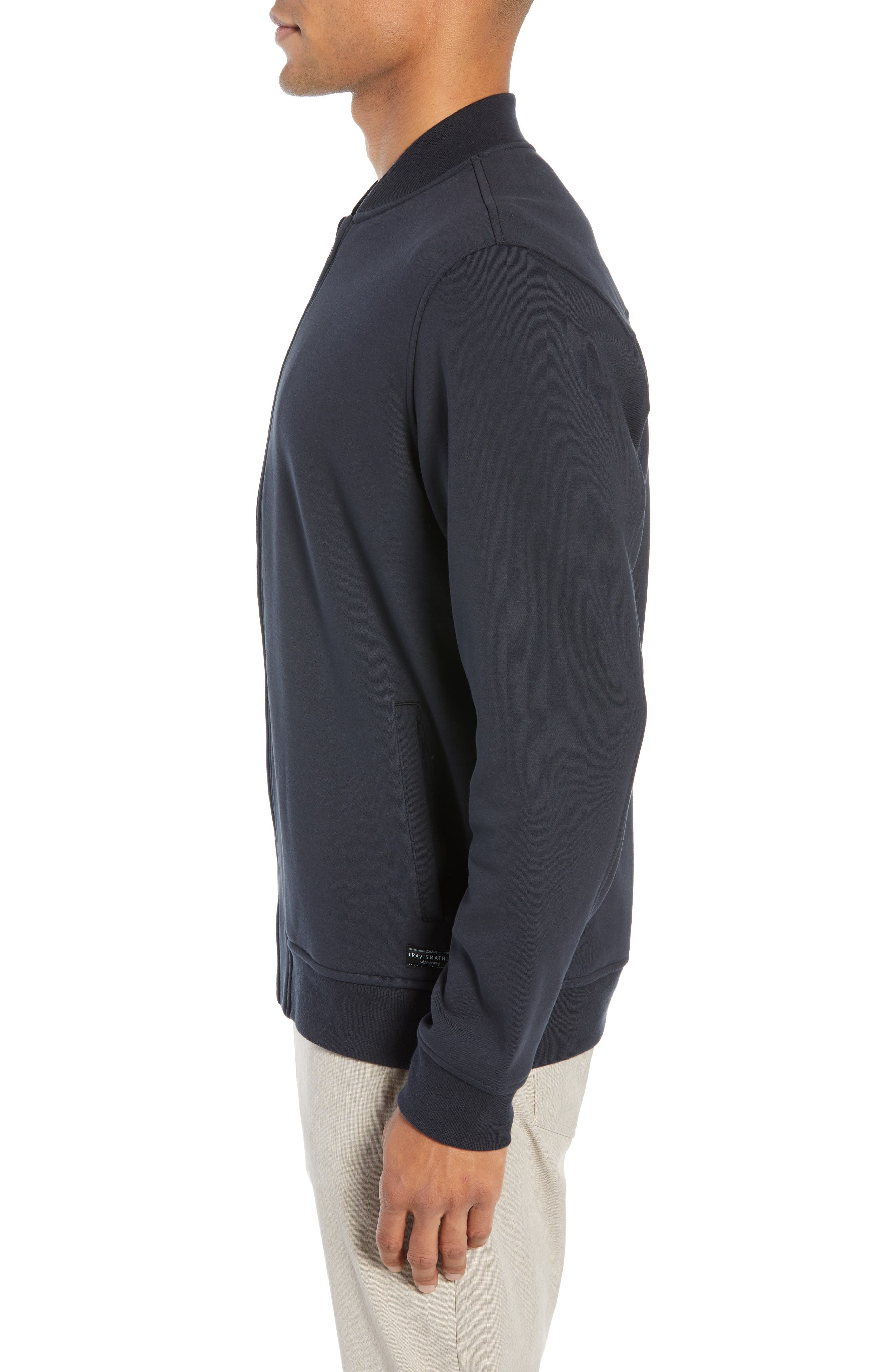 ,                             Cavalry Knit Bomber Jacket,                             Alternate thumbnail 3, color,                             BLACK
