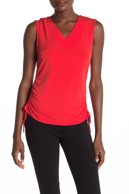 Image of Calvin Klein Knit Ruched Side Top