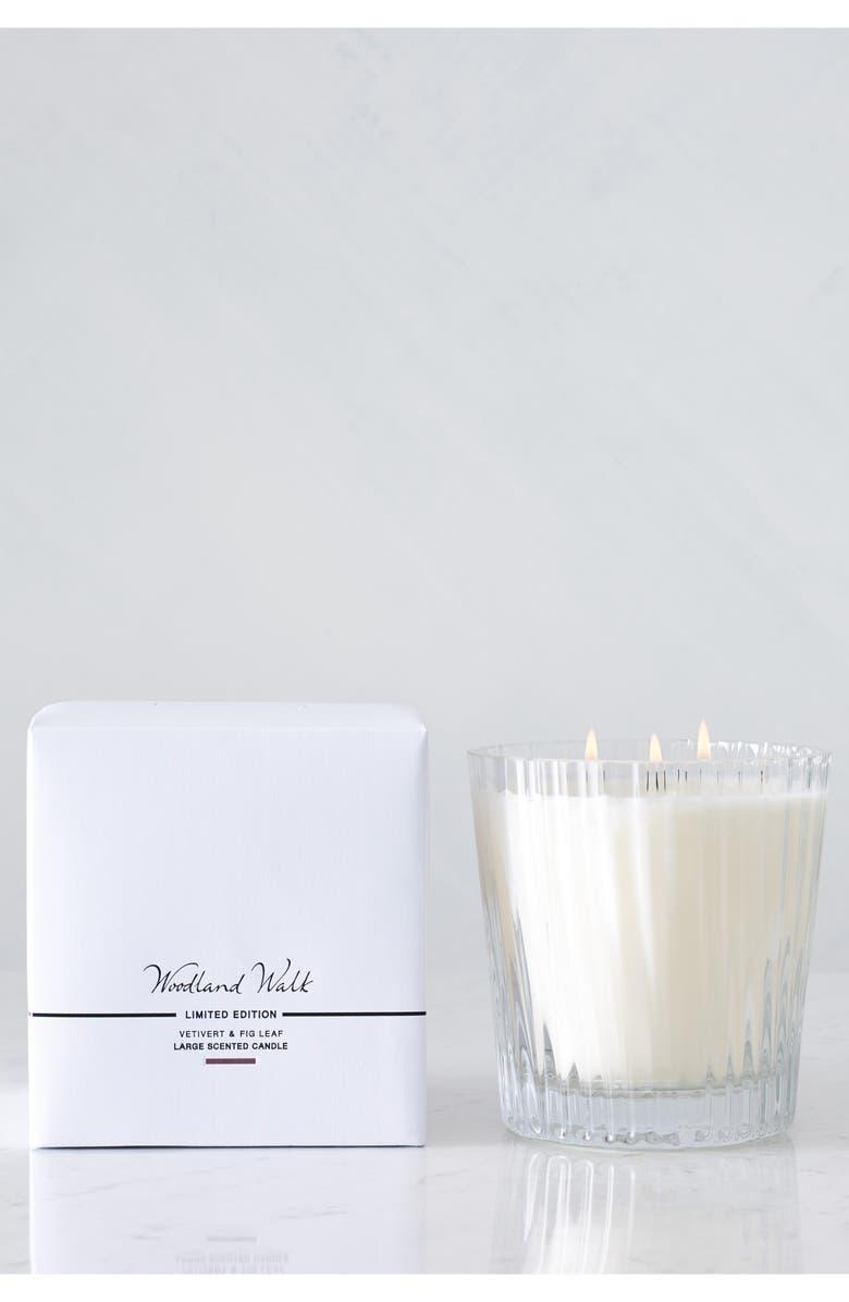 THE WHITE COMPANY Large Woodland Walk Candle, Main, color, WOODLAND WALK