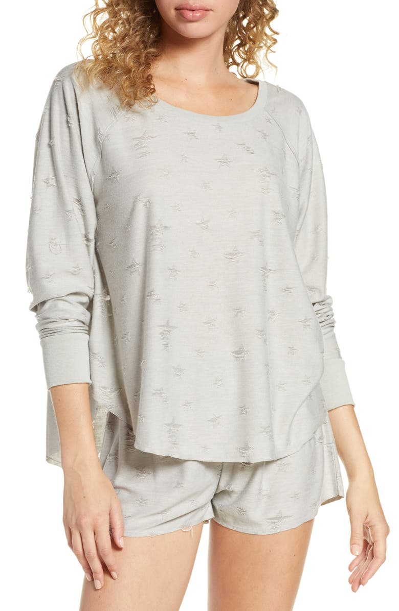 HONEYDEW INTIMATES Starry Eyed Lounge Tee, Main, color, FLINT