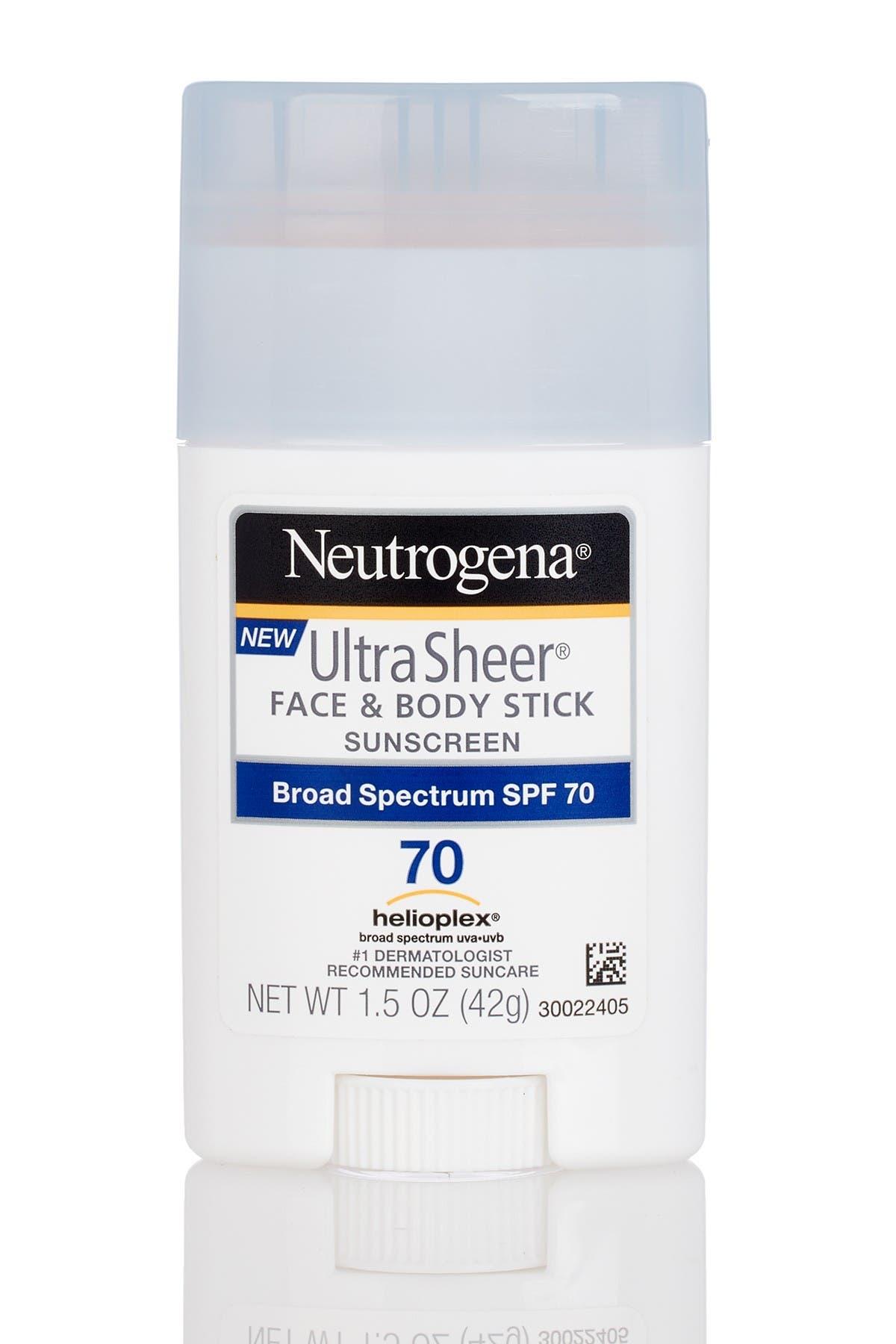 Image of JOHNSON & JOHNSON Ultra Sheer Face & Body SPF 70 Stick Sunscreen