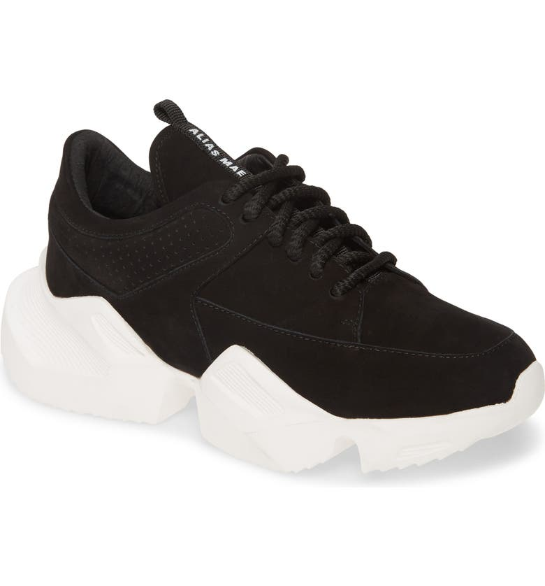 ALIAS MAE Tommy Sneaker, Main, color, BLACK LEATHER