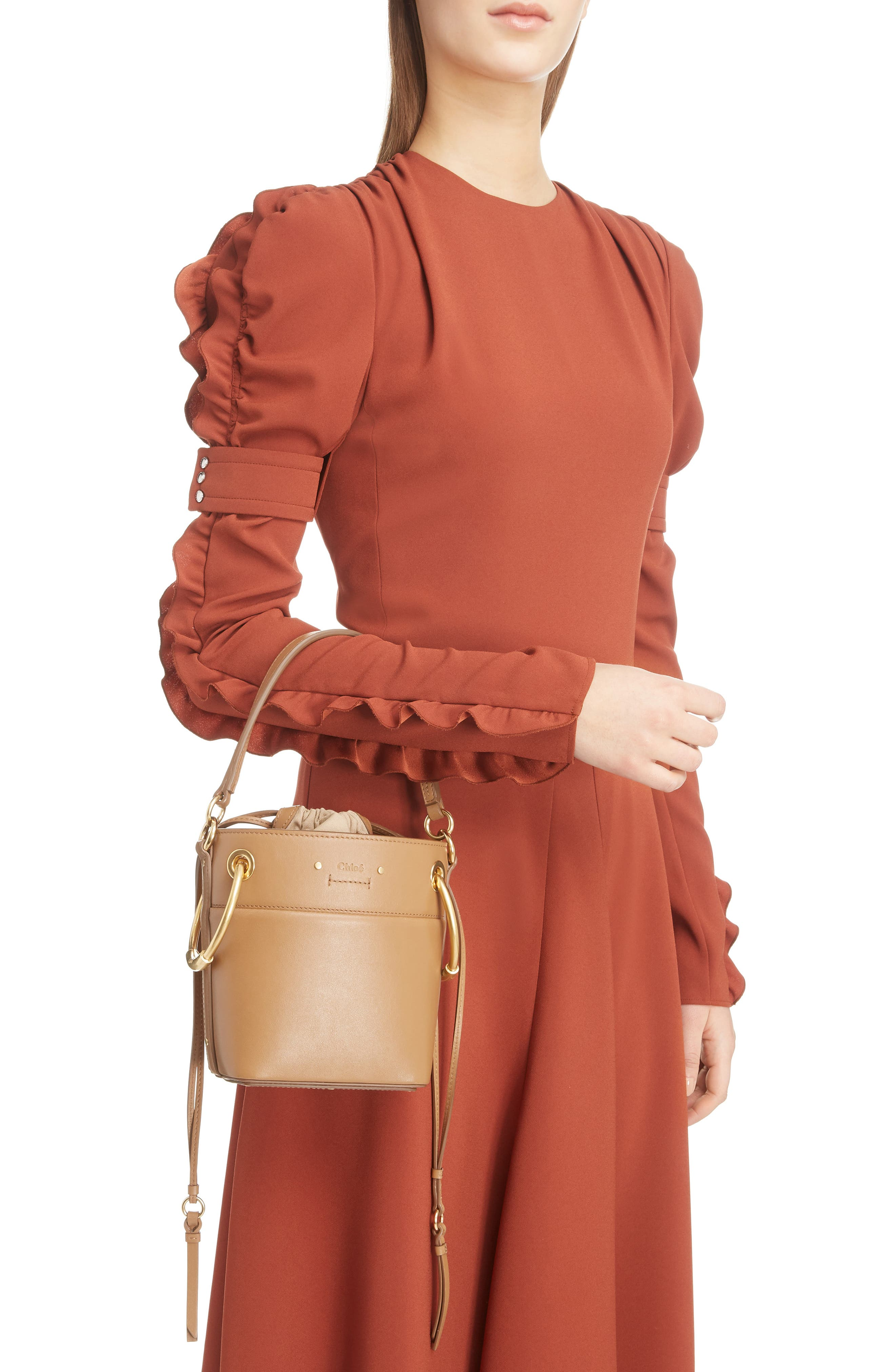 ,                             Roy Small Leather Bucket Bag,                             Alternate thumbnail 16, color,                             201