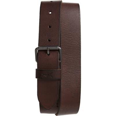 Allsaints Leather Belt, Bitter Brown