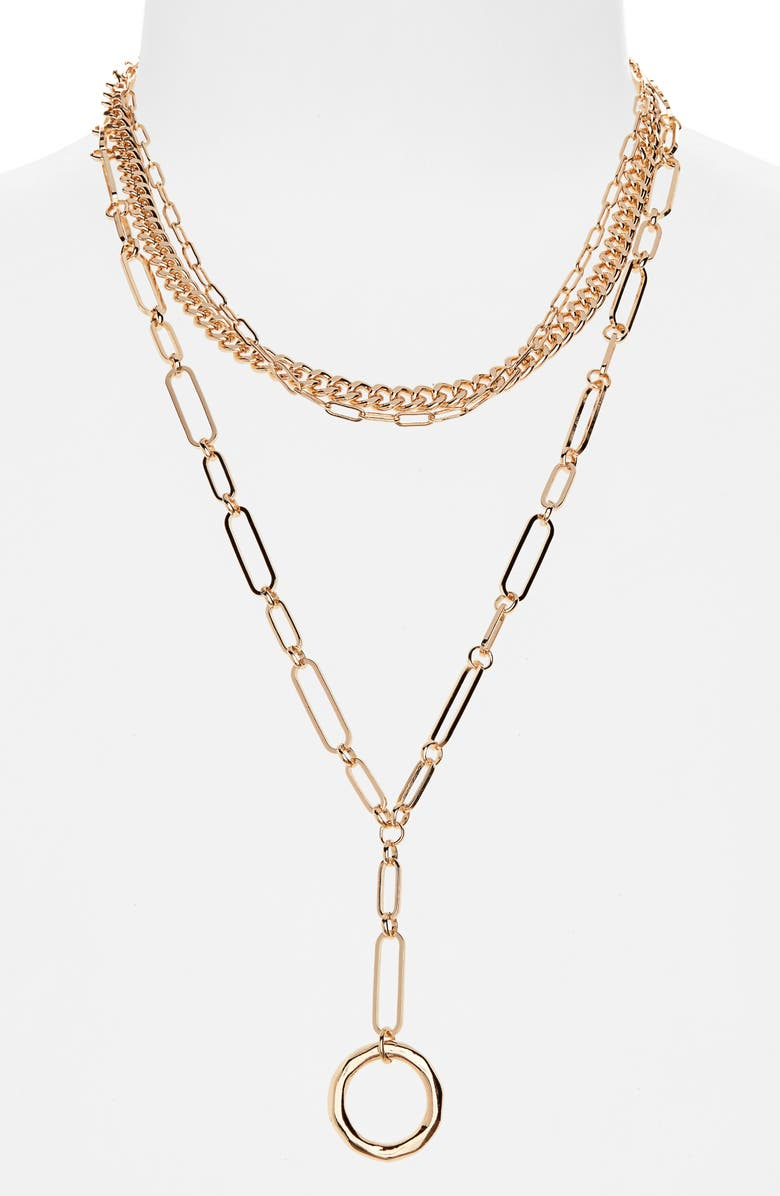 BP. 3-in-1 Closure Layered Chain Y-Necklace, Main, color, 710