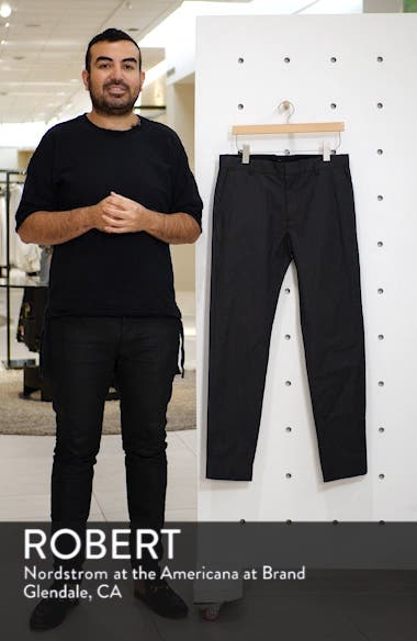 Griffith Slim Fit Microgrid Pants, sales video thumbnail