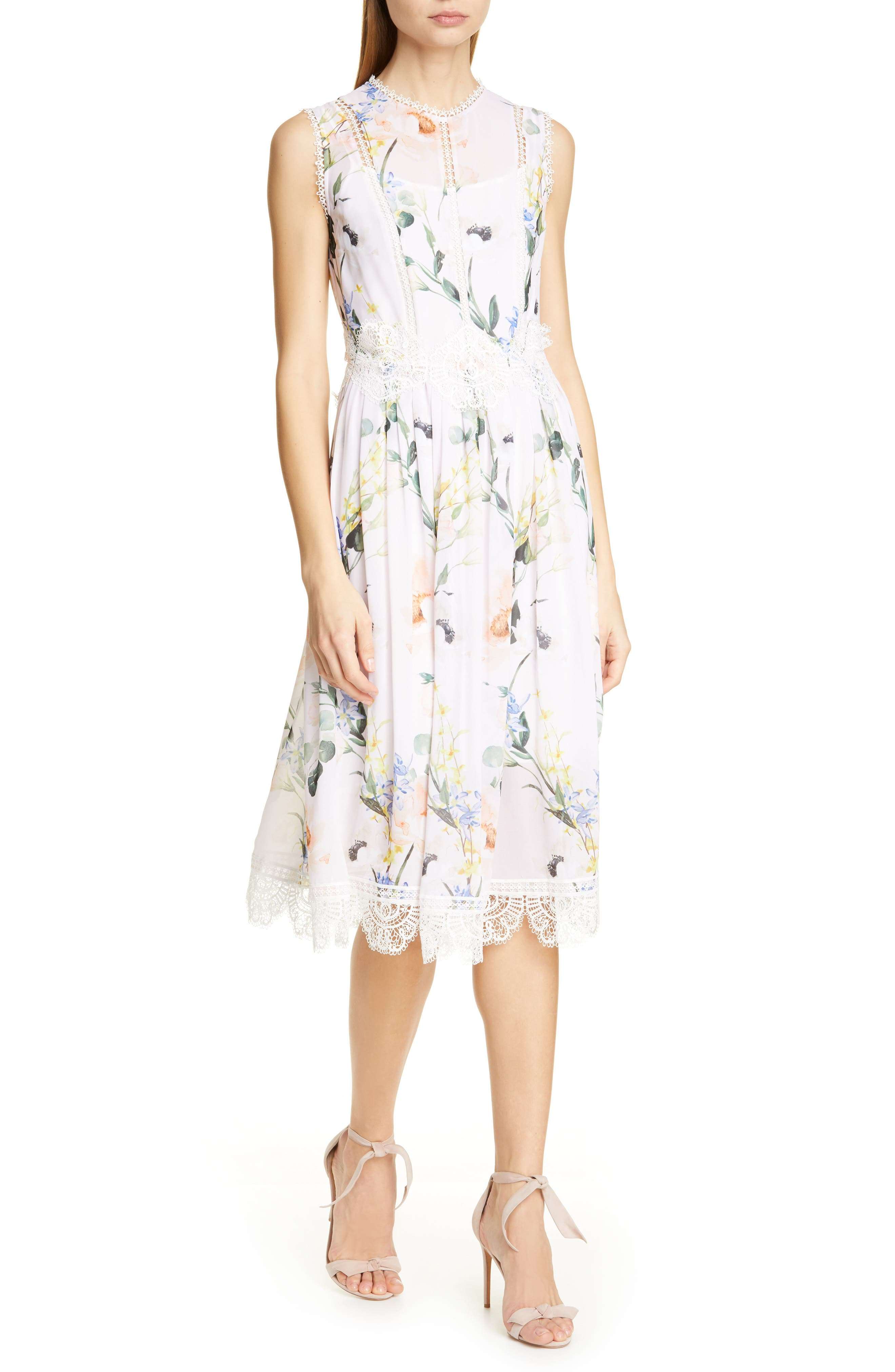 Ted Baker London Cerloe Elegant Midi Dress, Pink