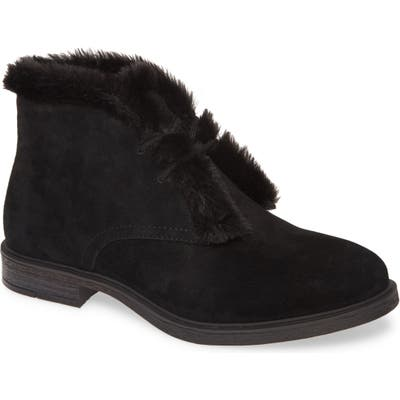 Hush Puppies Bailey Faux Fur Lined Chukka Boot, Black