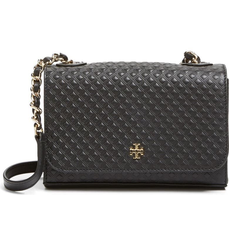 TORY BURCH 'Marion' Quilted Shoulder Bag, Main, color, 001