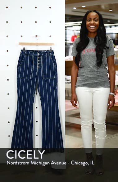 Stripe High Waist Flare Jeans, sales video thumbnail