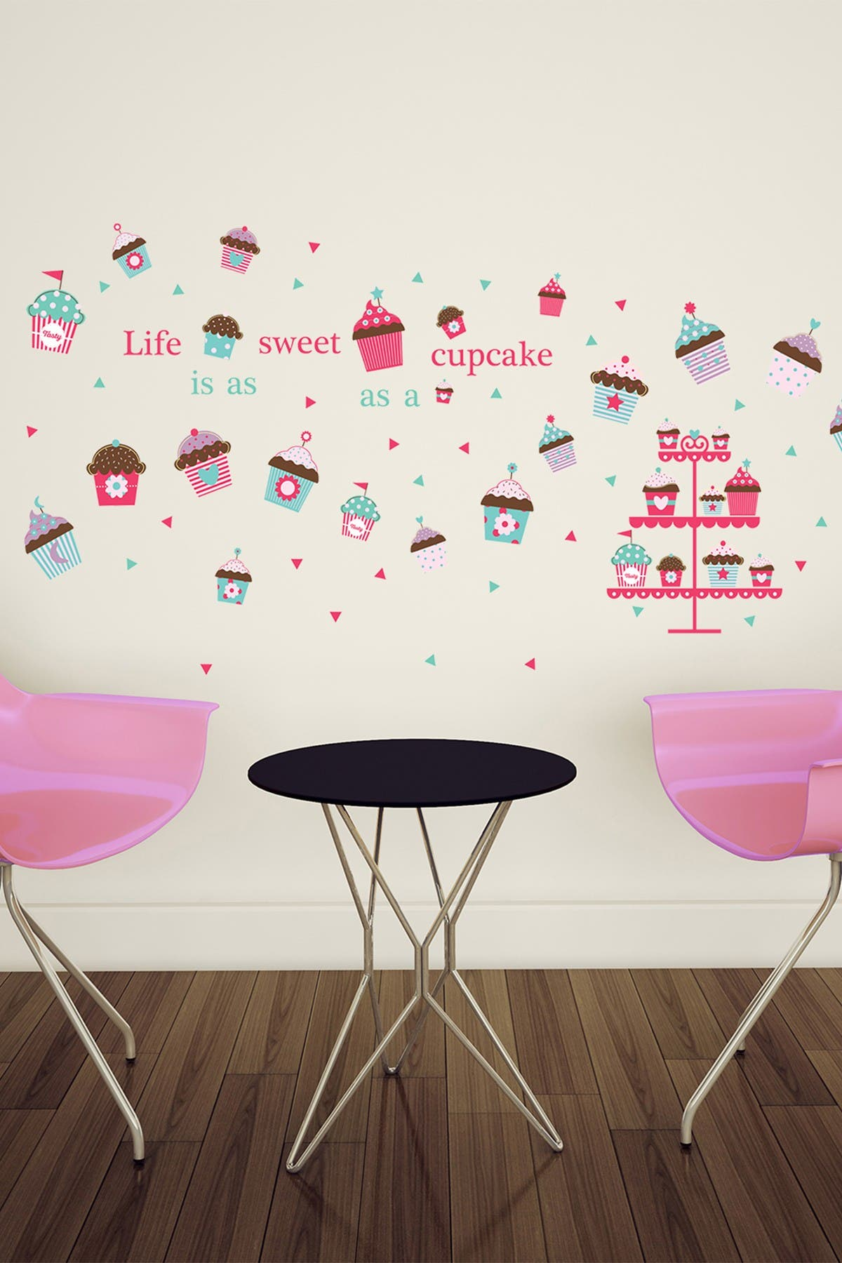 Image of WalPlus Life is a Cupcake Wall Sticker