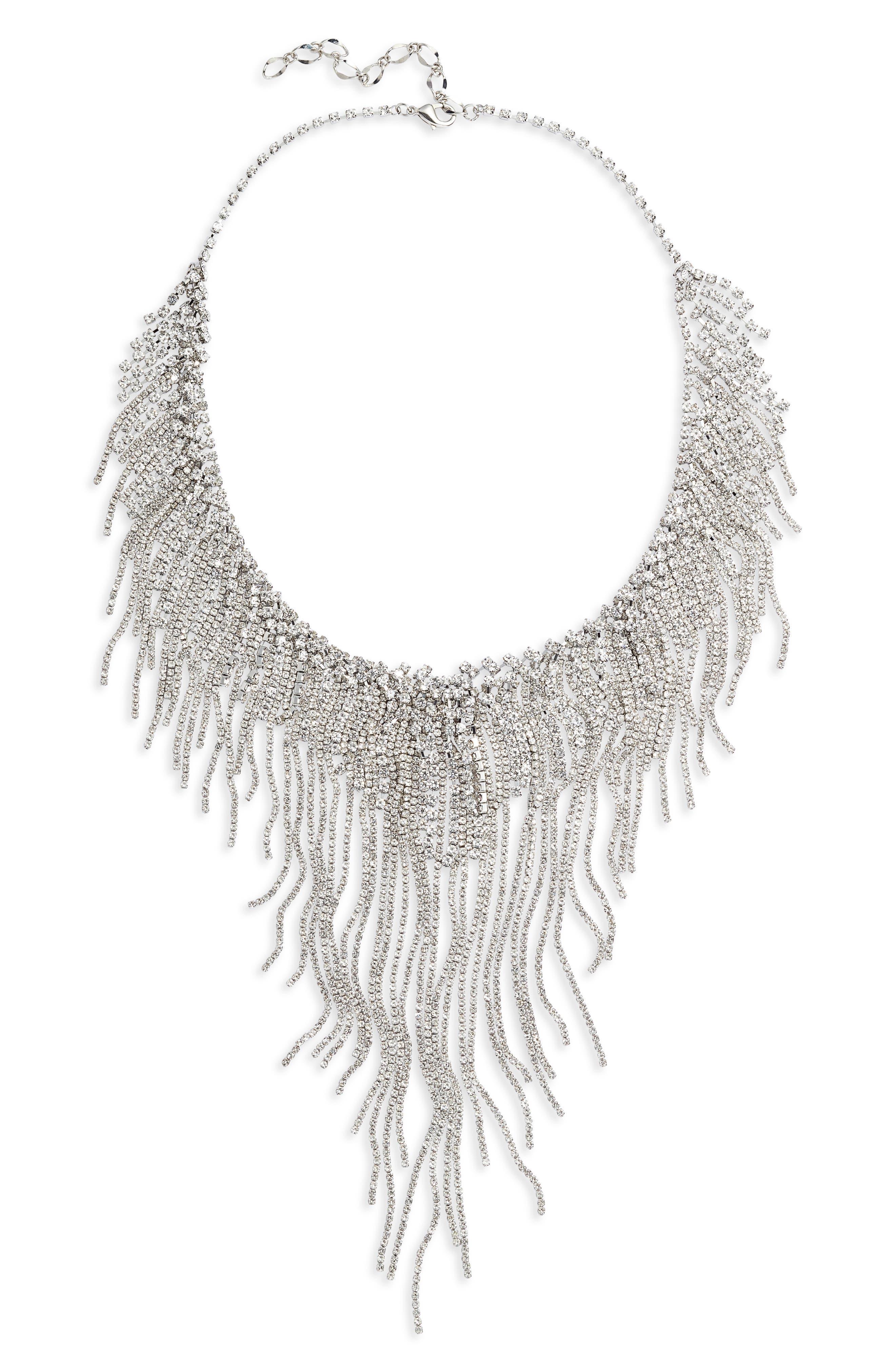 Drama Crystal Fringe Frontal Necklace
