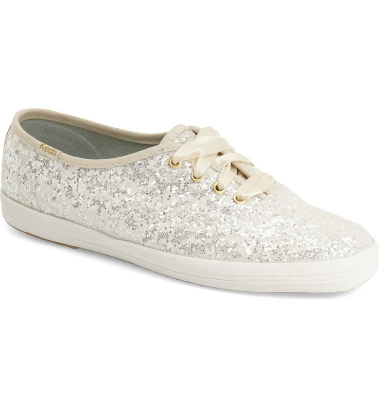 KEDS<SUP>®</SUP> FOR KATE SPADE NEW YORK glitter sneaker, Main, color, 100