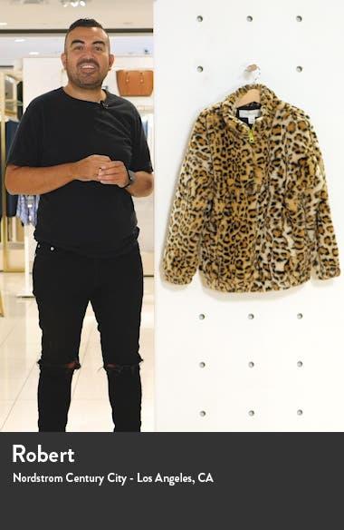 Kids' Leopard Print Faux Fur Half Zip Jacket, sales video thumbnail