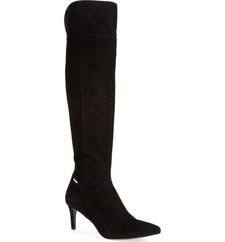 CALVIN KLEIN 'Clancey' Over the Knee Boot, Main, color, 001
