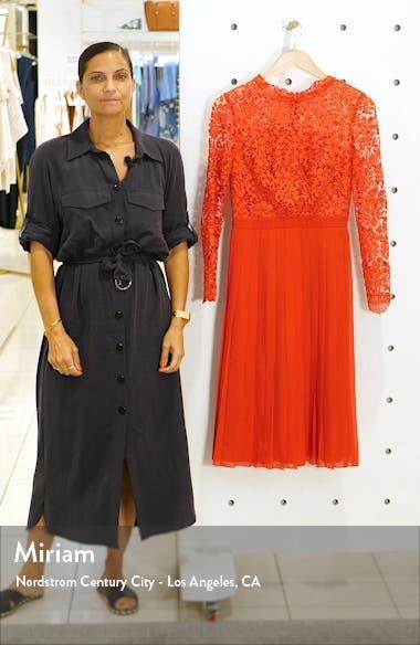 Naarah Long Sleeve Lace Bodice Chiffon Cocktail Dress, sales video thumbnail