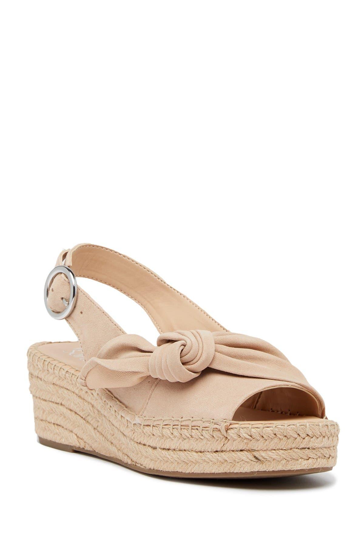 Pixie Suede Slingback Wedge Sandal