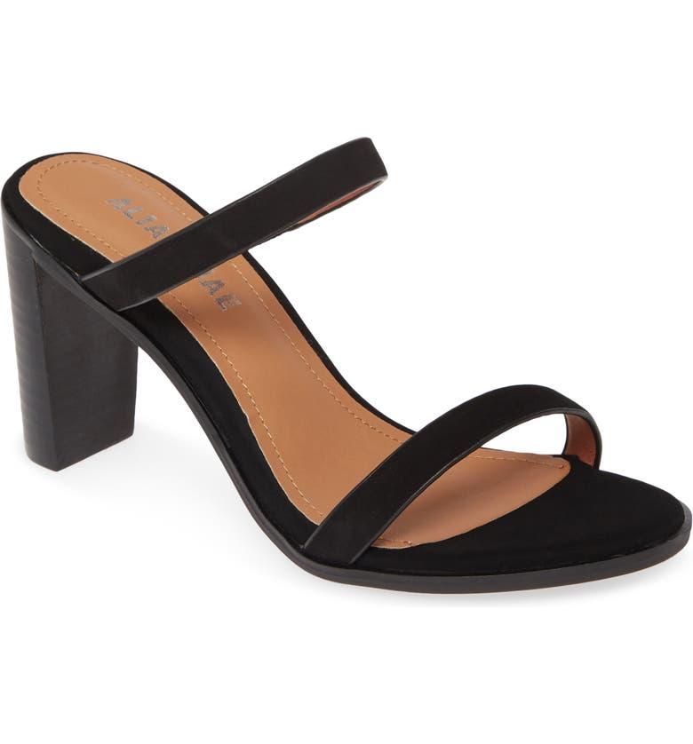 ALIAS MAE Emily Strappy Slide Sandal, Main, color, BLACK NUBUCK