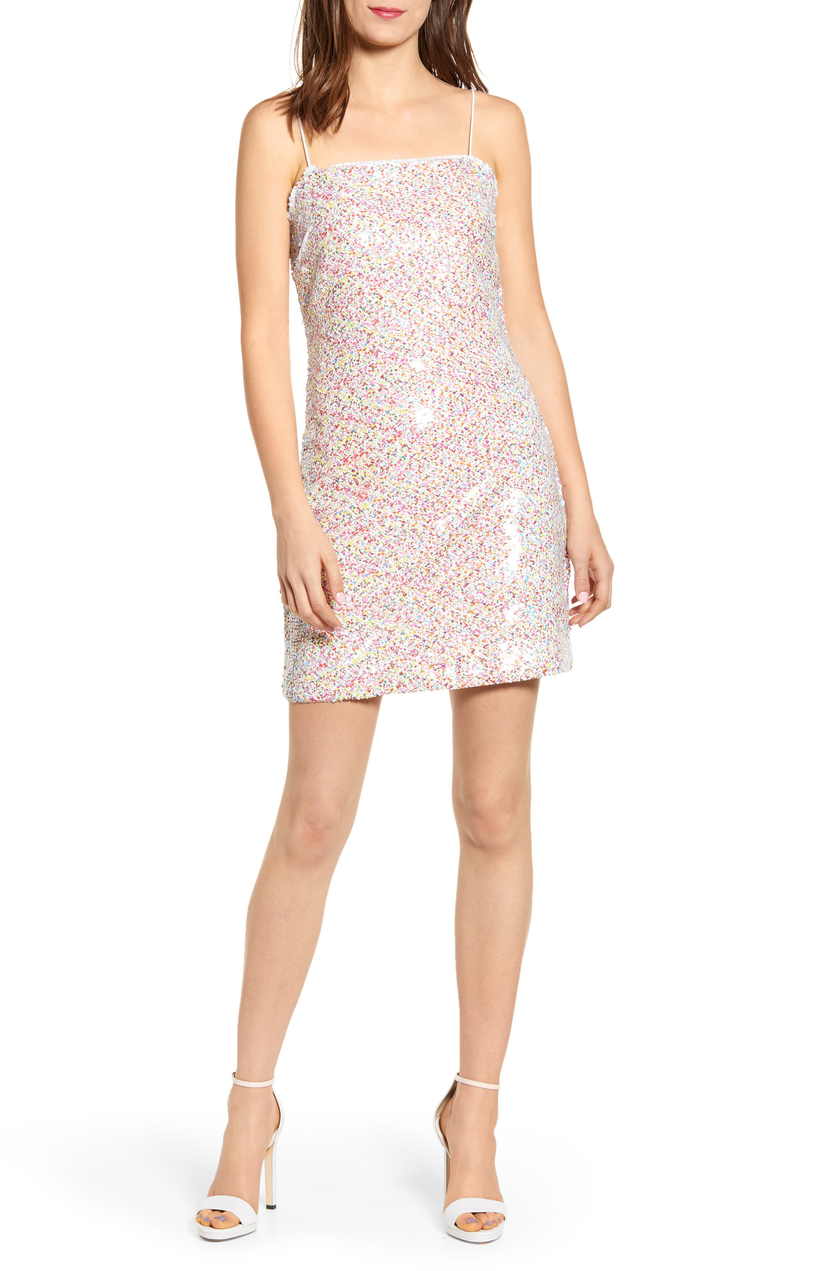Endless Rose Speckle Sequin Dress, Red