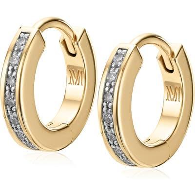 Monica Vinader Fiji Skinny Diamond Huggie Hoop Earrings