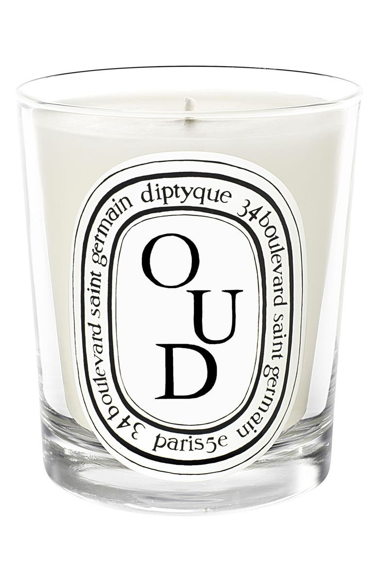 DIPTYQUE Oud Candle, Main, color, NO COLOR