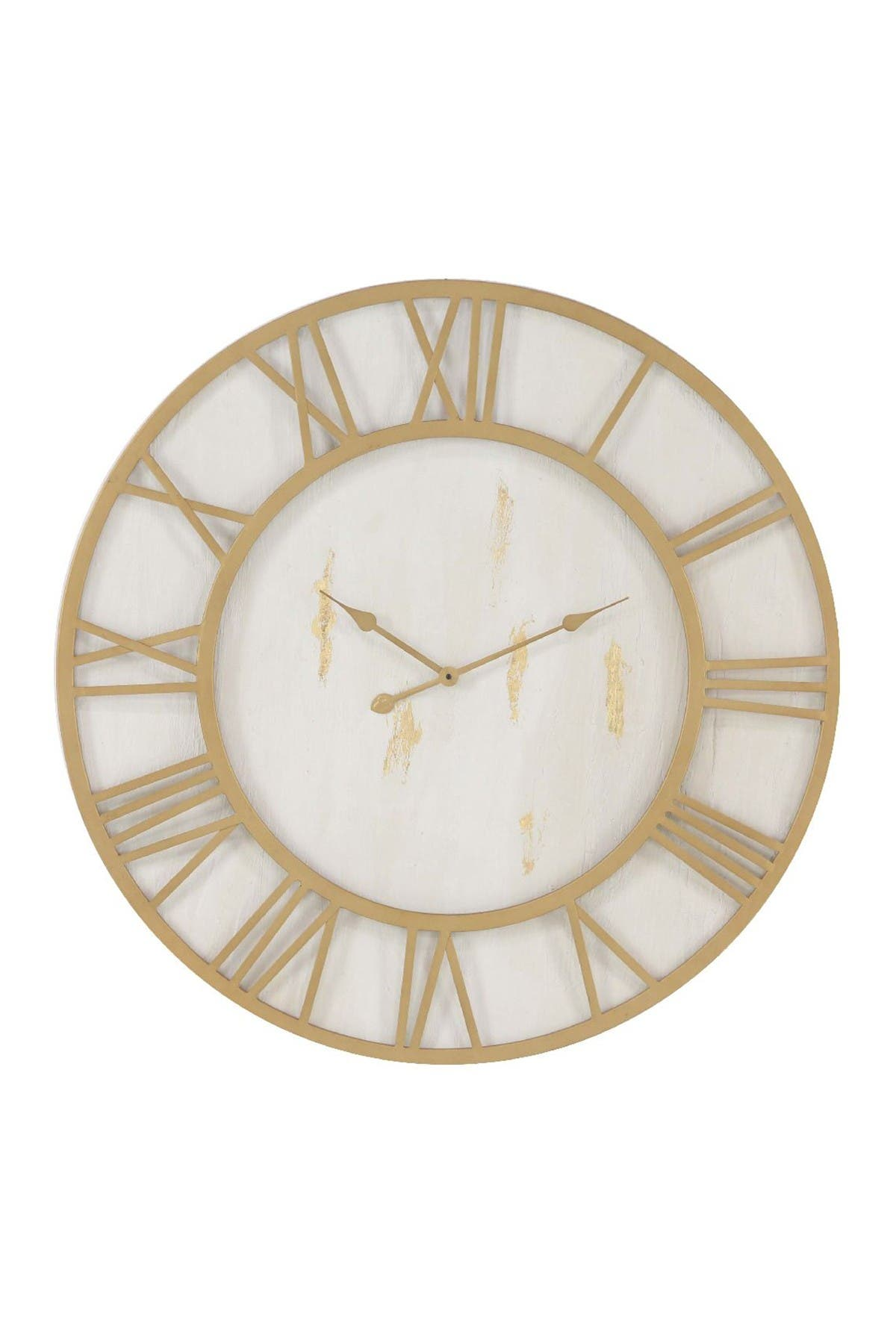 Image of Willow Row Gold/White Rustic Wall Clock