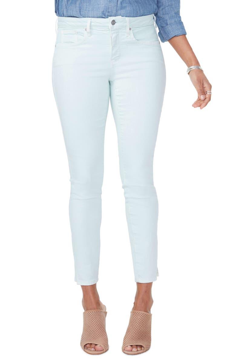 NYDJ Ami Slit Ankle Skinny Jeans, Main, color, DESERT DEW