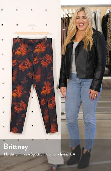 Slim Fit Floral Suit Pants, sales video thumbnail