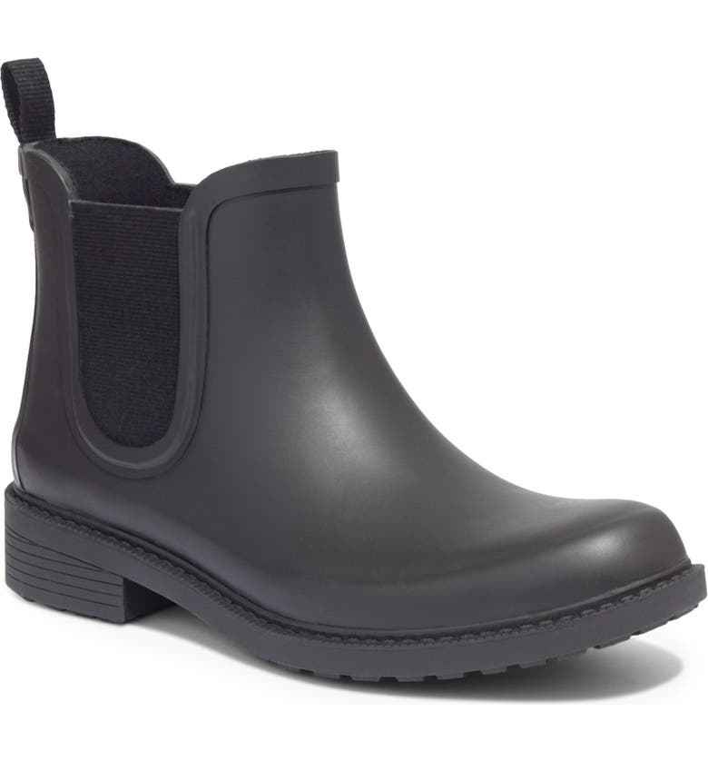 MADEWELL The Chelsea Rain Boot, Main, color, TRUE BLACK RUBBER