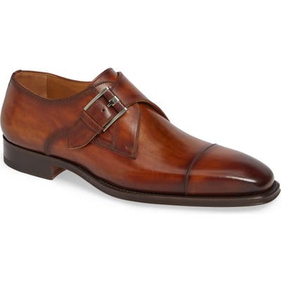 Magnanni Lennon Monk Strap Shoe, Brown
